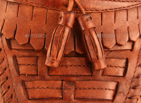 Mans leather dress shoe background - Stock Photo - Images