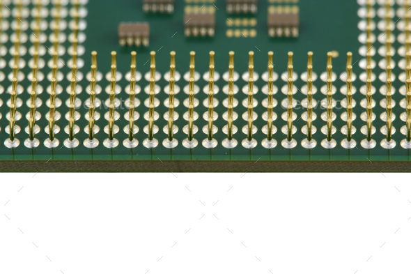 Computer processor CPU close up - Stock Photo - Images
