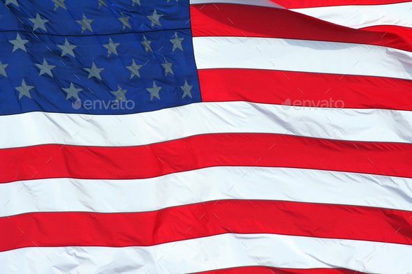 US Flag macro background - Stock Photo - Images