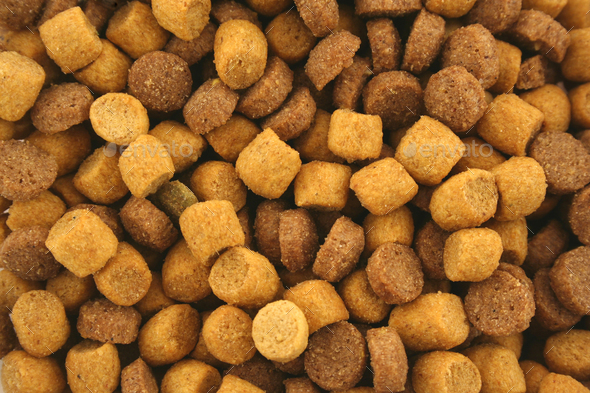 Dry Cat food background texture - Stock Photo - Images