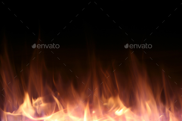 Fire Background - Stock Photo - Images