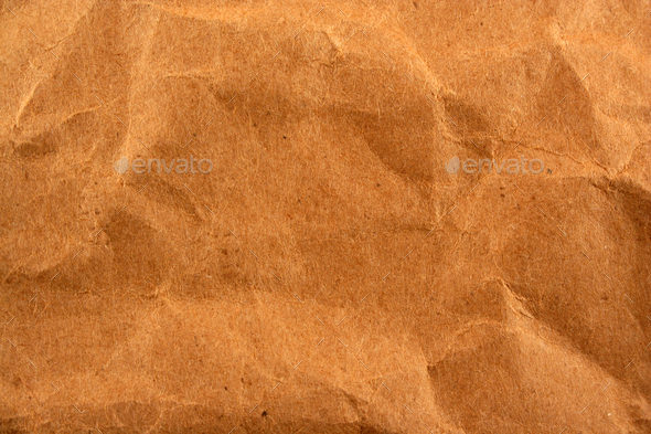 Wrinkled paper bag texture background - Stock Photo - Images