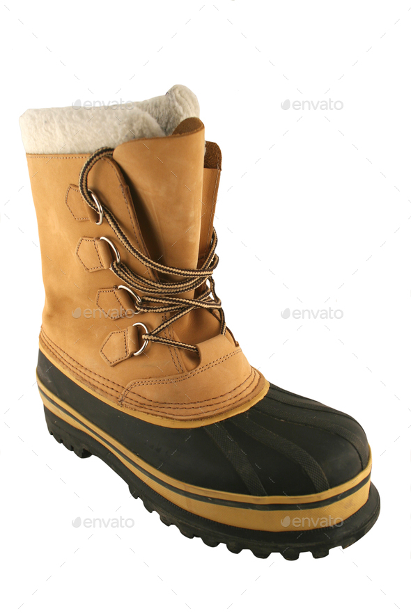 Isolated Snow Boot on white - Stock Photo - Images