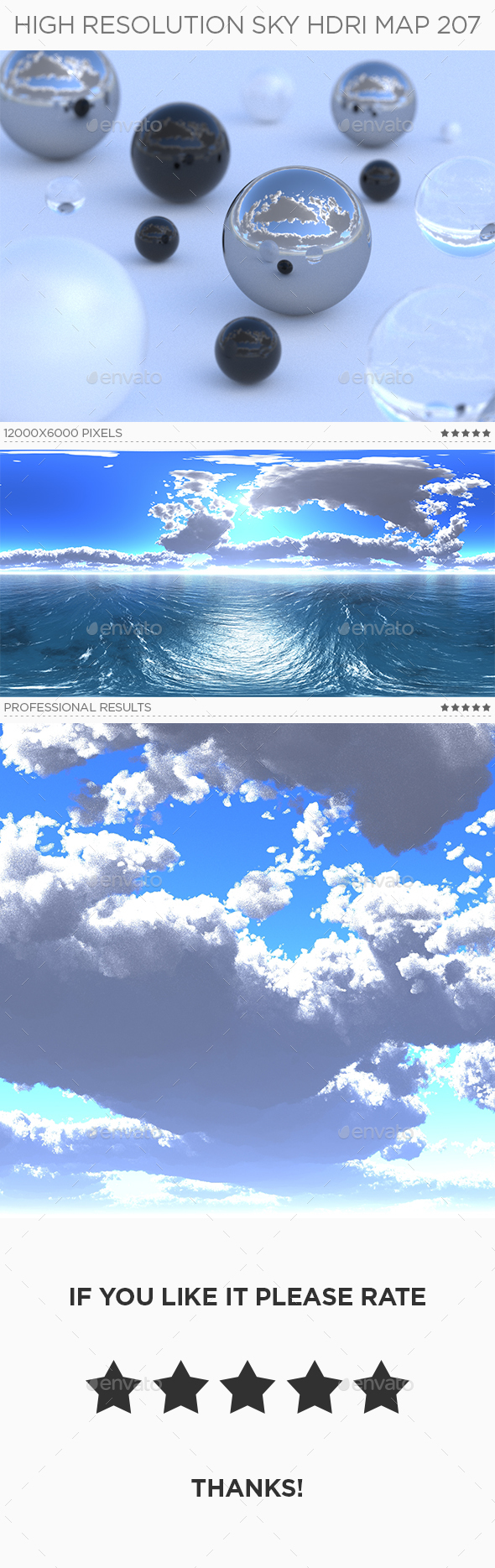 High Resolution Sky HDRi Map 207 - 3DOcean Item for Sale