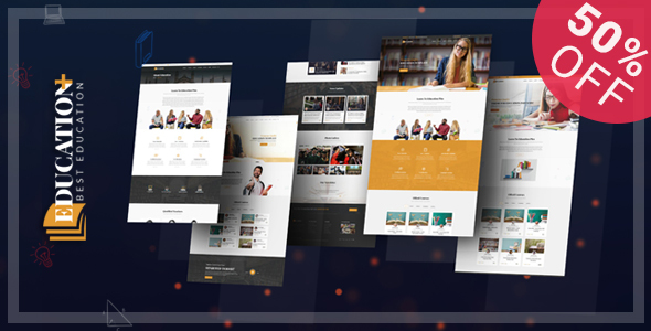 Image of Education Plus - Education, Academy, Courses & Training HTML Template