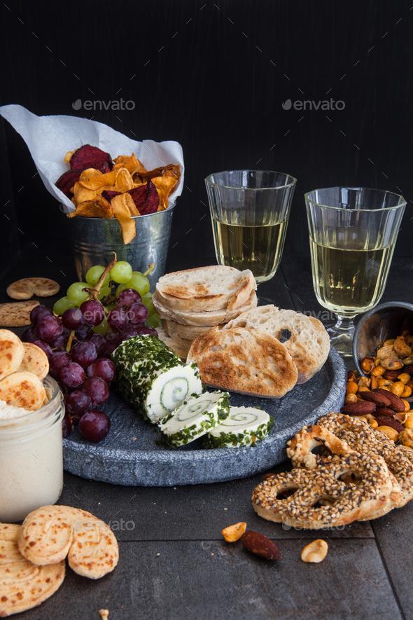 Savoury snacks - Stock Photo - Images