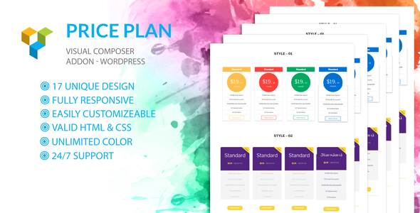 Price Plan - Visual Composer Addon- WordPress Plugin - CodeCanyon Item for Sale