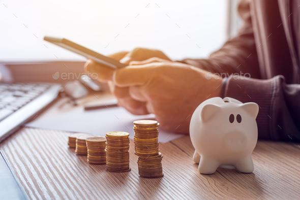 Savings, finances, economy and home budget - Stock Photo - Images