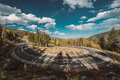 Hairpin turn at autumn in Colorado, USA. - PhotoDune Item for Sale