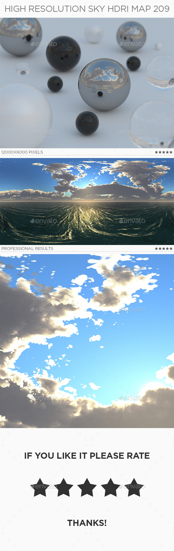 High Resolution Sky HDRi Map 209 - 3DOcean Item for Sale