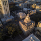 Aerial top down view of city hall in Savannah, Georgia, USA. - PhotoDune Item for Sale