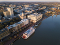 Aerial view of historic River Street and downtown Savannah, Geor - PhotoDune Item for Sale