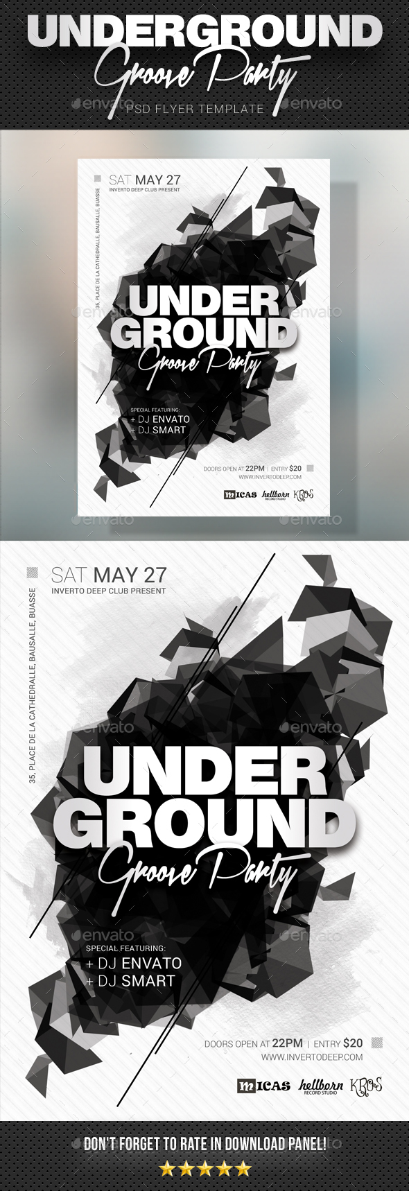Underground Groove Party Flyer - Clubs & Parties Events