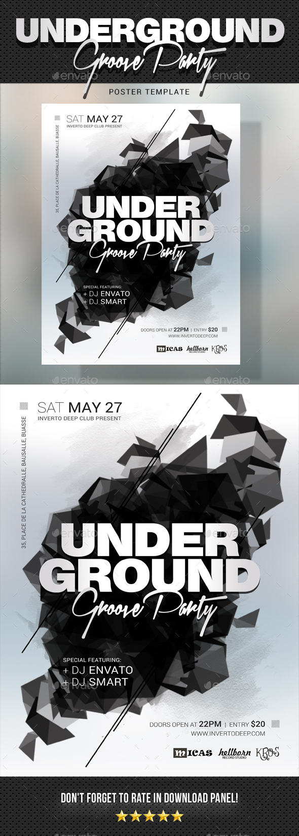 Underground Groove Poster - Signage Print Templates