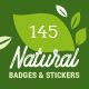 Natural Badges and Stickers - GraphicRiver Item for Sale