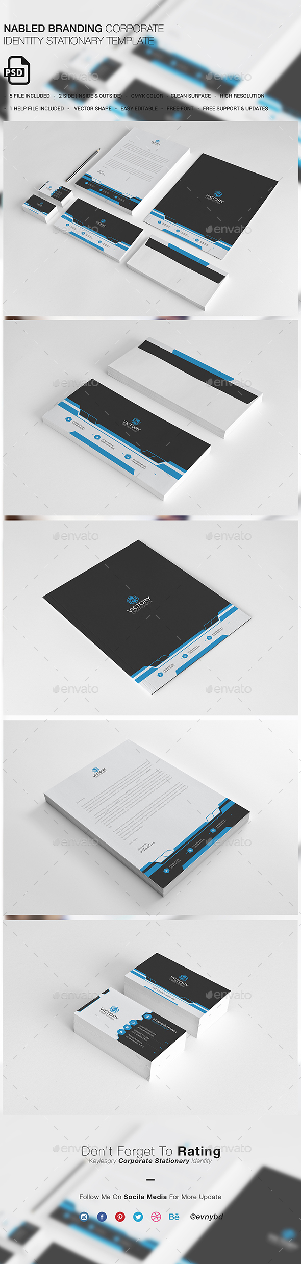 Nabled Corporate Stationary - Stationery Print Templates