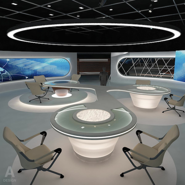 Virtual TV Studio News Set 28 - 3DOcean Item for Sale