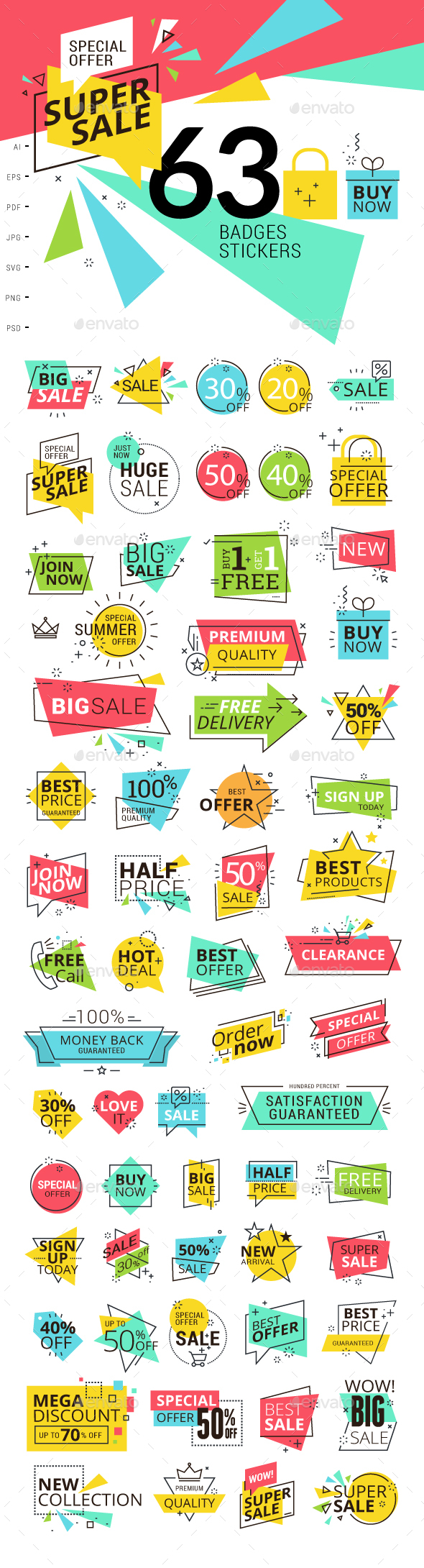 Sale Labels - Retail Commercial / Shopping