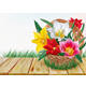Basket with Tulips Bouquet - GraphicRiver Item for Sale