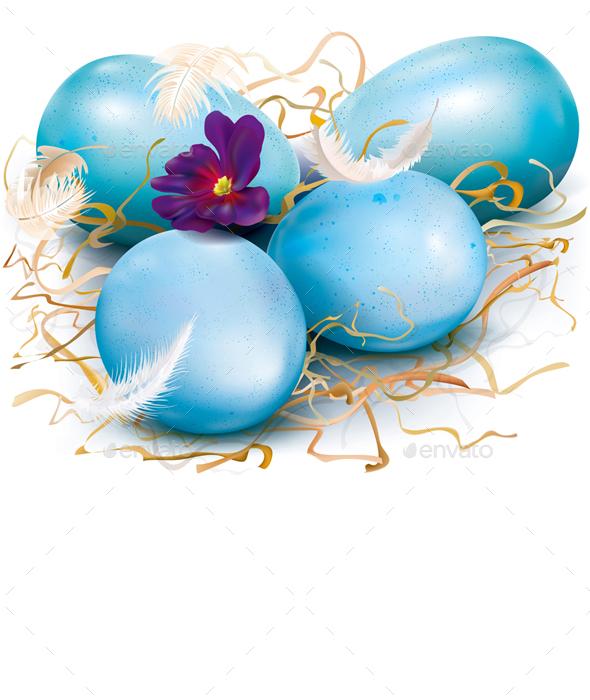 Blue Easter Eggs - Miscellaneous Seasons/Holidays
