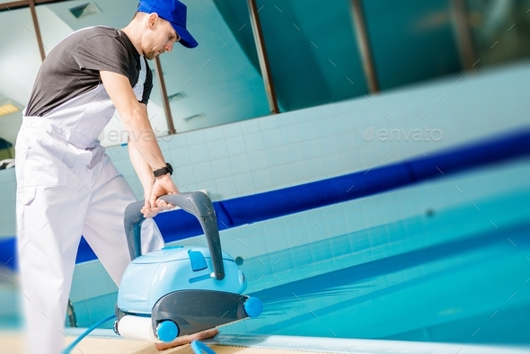 Automated Pool Cleaner - Stock Photo - Images