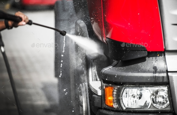 Truck Wash Theme - Stock Photo - Images