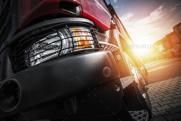 Euro Semi Truck Driving - Stock Photo - Images