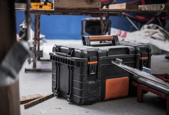 Construction Site Tools Box - Stock Photo - Images