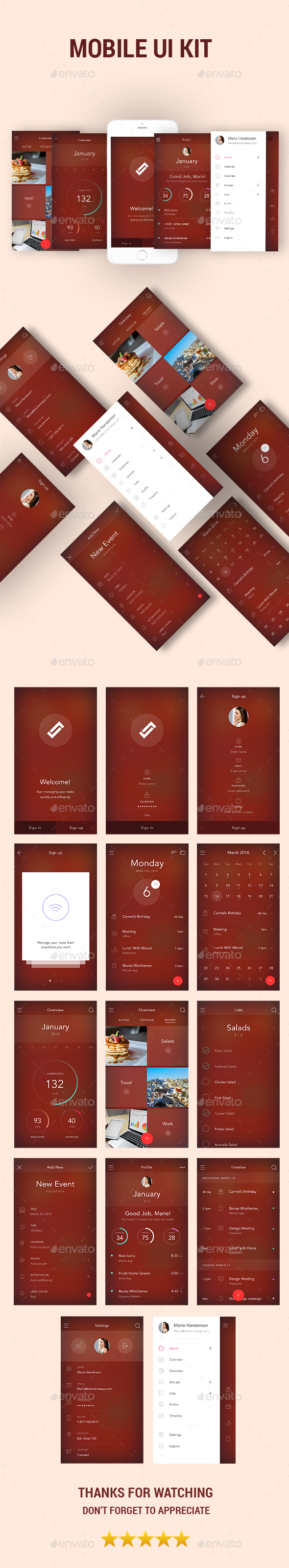 Mobile UI KIT - User Interfaces Web Elements