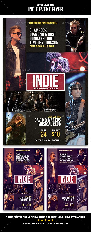 Indie Event Flyer - Concerts Events