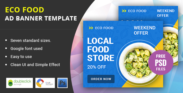 Eco Food | HTML 5 Animated Google Banner - CodeCanyon Item for Sale
