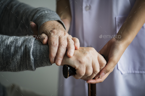 Closeup of a support hands - Stock Photo - Images