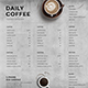 Simple Coffee Menu Board