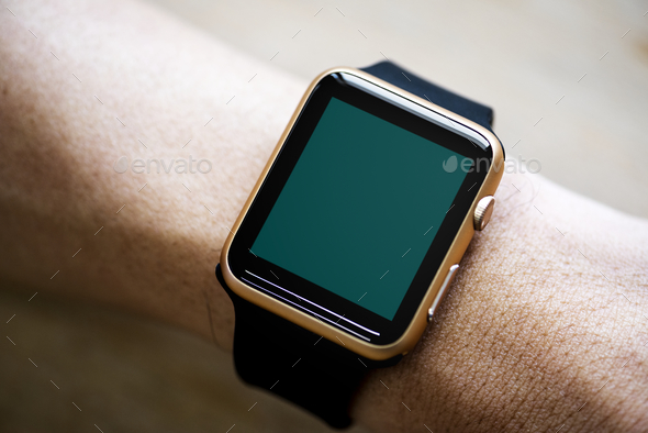 Closeup of mockup smartwatch - Stock Photo - Images