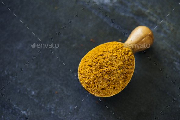 Close up of turmeric powder - Stock Photo - Images