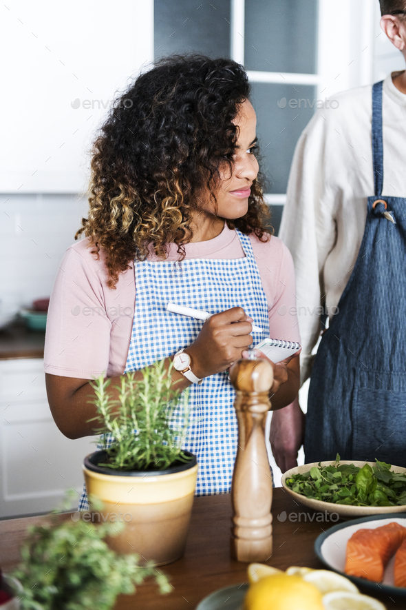 Diverse people joining cooking class - Stock Photo - Images