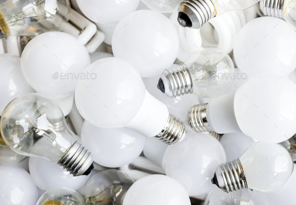 Closeup of light bulb - Stock Photo - Images
