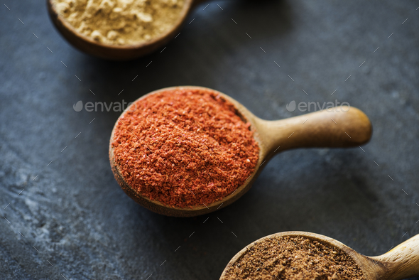 Closeup of mixed spice powder - Stock Photo - Images