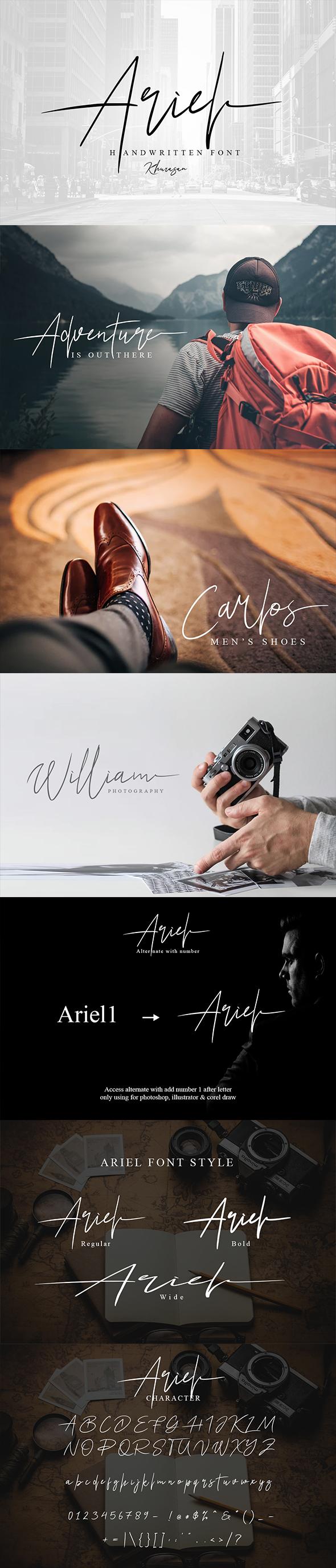 Ariel Signature - Script Fonts