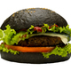 Black burger on white background - PhotoDune Item for Sale