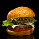 Burger on a black background - PhotoDune Item for Sale