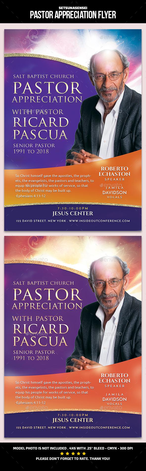 Pastor Appreciation Flyer - Church Flyers