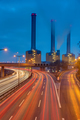 Cogeneration plant and highway at night - PhotoDune Item for Sale
