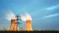 cooling tower of power plant in nightfall - PhotoDune Item for Sale