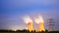 cooling tower of power plant at night - PhotoDune Item for Sale