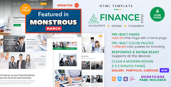 Finance Corp - A Financial Services & Business Consulting Template