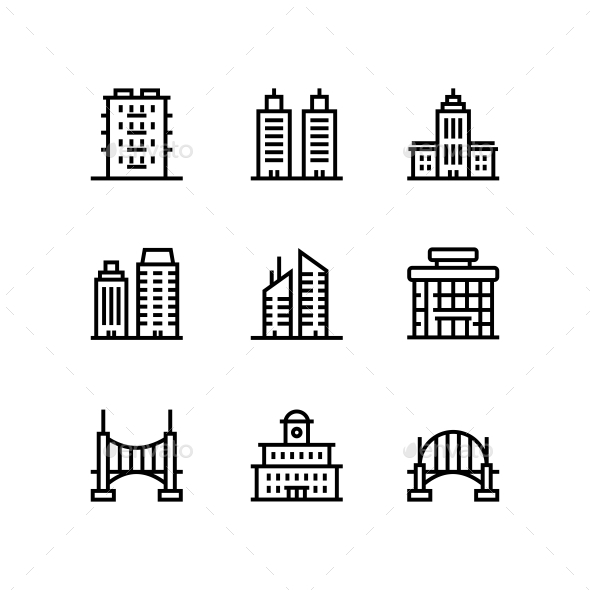 Building, Real Estate, House Icons for Web and Mobile Design Pack 5 - Icons