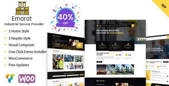 Emarat-Industry & Business WordPress Theme - Business Corporate