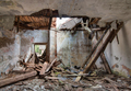 Leaky roof - interior of the old, abandoned and crumbling buildi - PhotoDune Item for Sale
