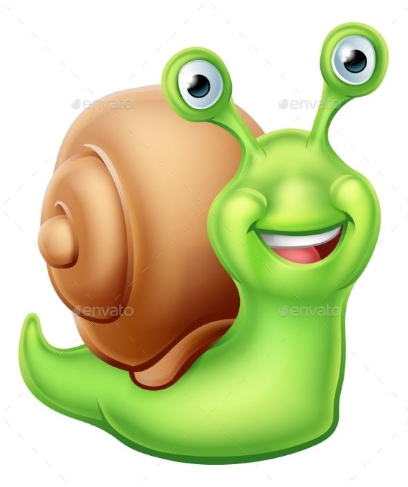 Snail Cartoon Character - Animals Characters